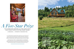 Log Cabin Homes, July 2011, A Five-Star Prize