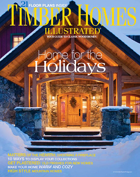 cover of Timber Homes Illustrated, December 2007