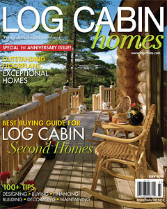 cover of Log Cabin Homes, July 2011