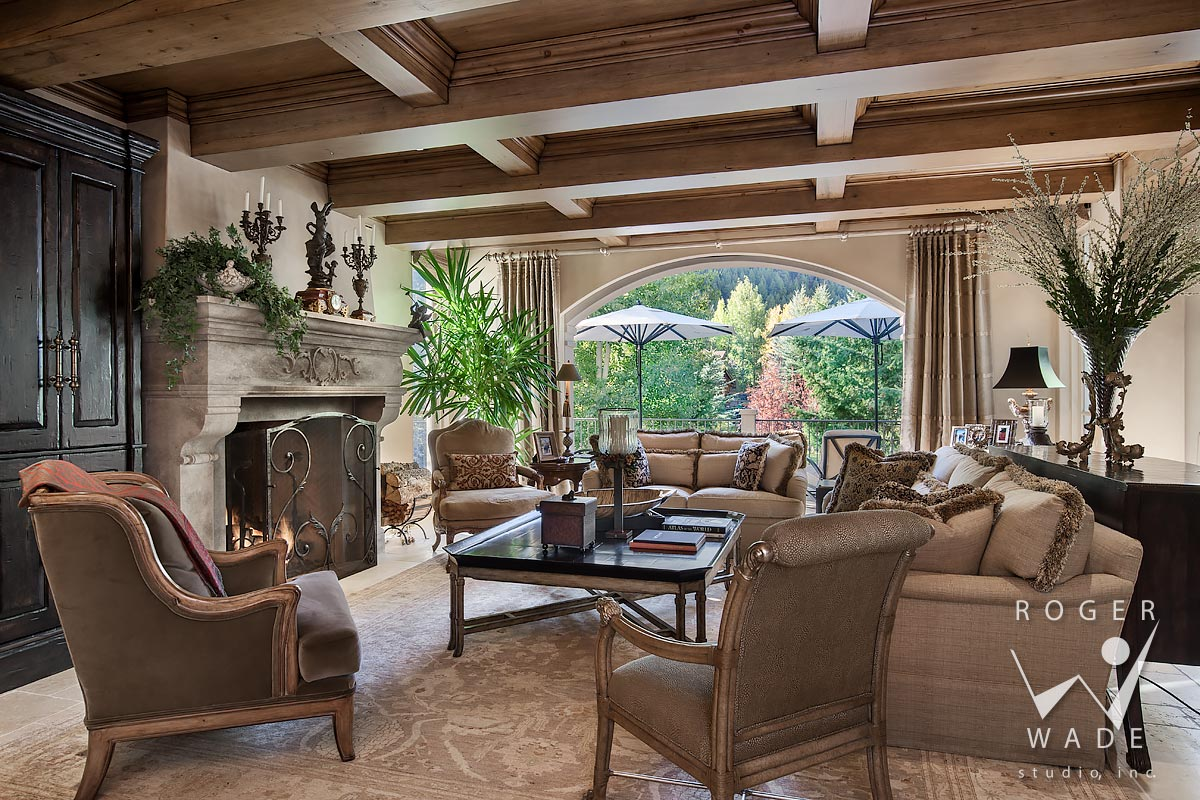 photography of traditionally designed living room, ketchum ,id