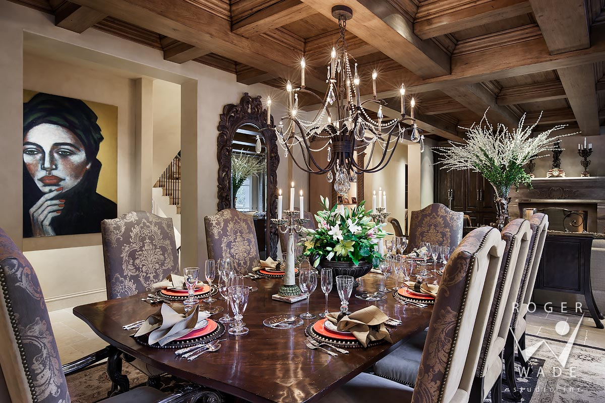 photograph of luxury dining room, ketchum, id